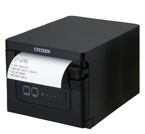 Citizen CT-S751 Receipt Printer, in Black